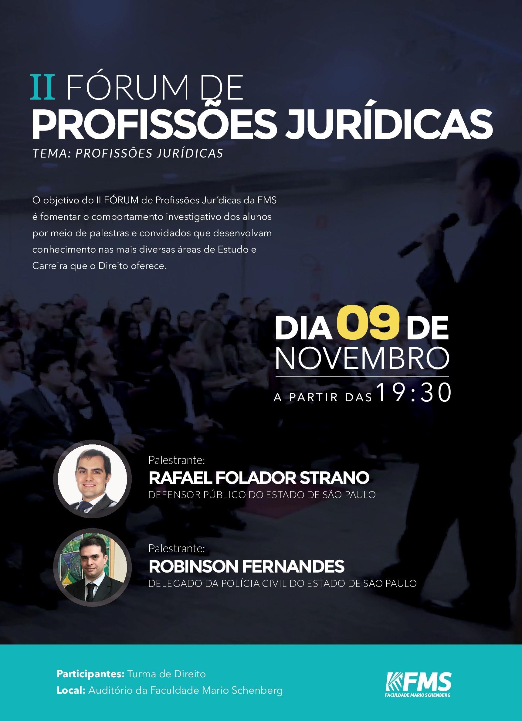 II FÓRUM DE PROFISSÕES JURÍDICAS DA FMS